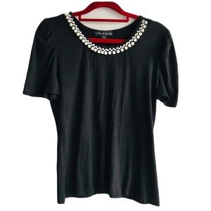 🎀Candy Couture Size XL Pearl Black Top